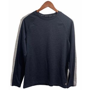 🖤 GAIAM navy blue and gray long sleeve shirt